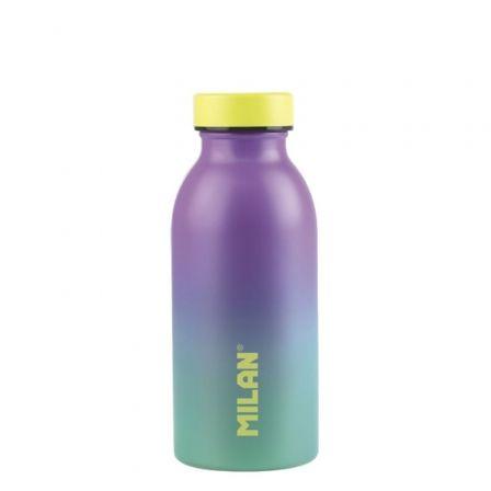 Botella Isotérmica de Acero Inoxidable Milán Edición Sunset/ Capacidad 354ml/ Lila y Turquesa