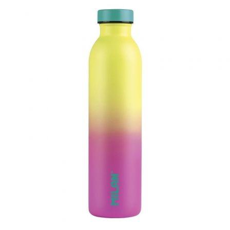 Botella Isotérmica de Acero Inoxidable Milán Edición Sunset/ Capacidad 591ml/ Amarilla y Rosa