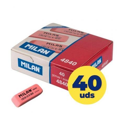 Goma de Borrar Milan CNM4840/ 40 unidades/ Roja