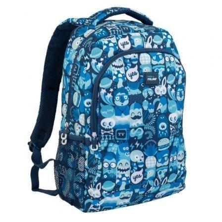 Mochila Milan Hey Boy Azul/ Capacidad 21L