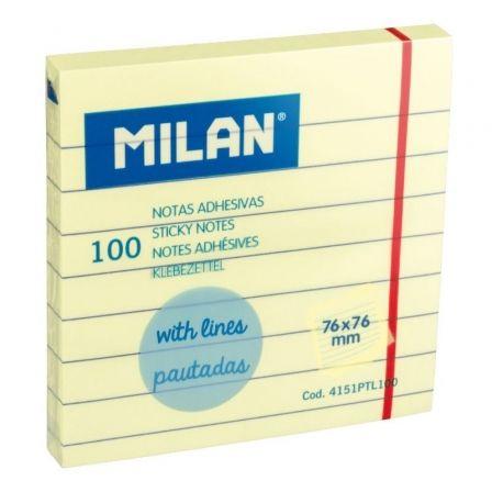 Notas Adhesivas Milan 4151PTL100/ 7.6 x 7.6cm/ Amarillas