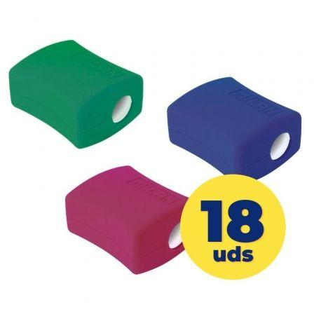 Caja de Sacapuntas Milan 20152918/ Doble/ 18 unidades/ Colores Surtidos