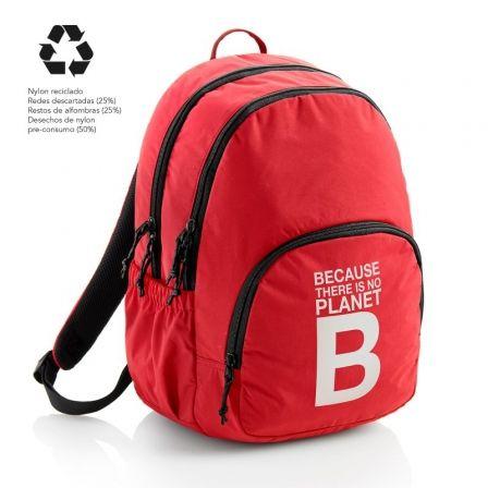 Mochila Miquel Rius Because There Is No Planet B/ Capacidad 27L/ Rojo