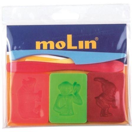Bolsa con Moldes Molin PTL977-S para Plastilina/ 6 unidades