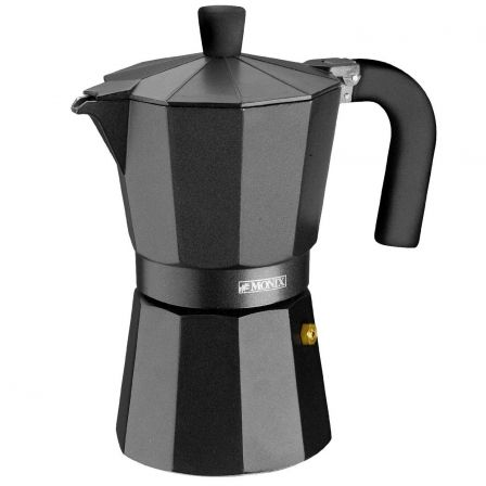 Cafetera Italiana Monix Noir M640009/ 9 Tazas/ Negra