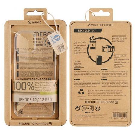Funda Muvit For Change MCCRS0046 para iPhone 12/ 12 Pro/ Transparente