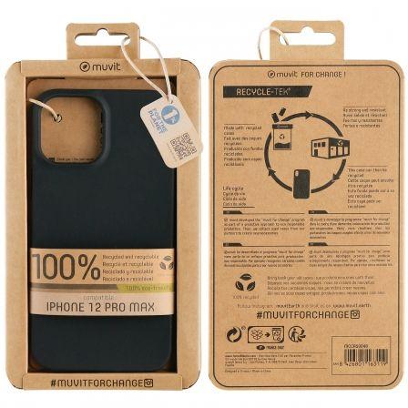 Funda Muvit For Change MCCRS0048 para iPhone 12 Pro Max/ Negra