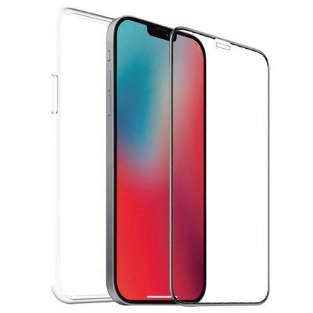 Pack Muvit For Change MCPAK0041 Funda Cristal Soft + Protector Vidrio Templado Plano para iPhone 12 Pro Max/ Transparente