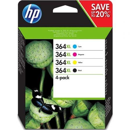 Cartucho de Tinta Original HP nº364 XL Alta Capacidad Multipack/ Cian/ Magenta/ Amarillo/ Negro