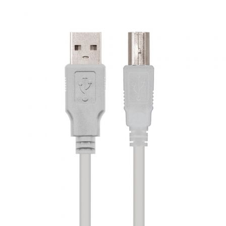 Cable USB 2.0 Impresora Nanocable 10.01.0105/ USB Macho - USB Macho/ 4.5m/ Beige