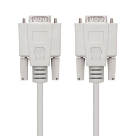 Cable Serie RS232 Nanocable 10.14.0102/ DB9 Macho - DB9 Macho/ 1.8m/ Beige
