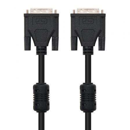 Cable DVI Nanocable 10.15.0602/ DVI Macho - DVI-Macho/ 1.8m/ Negro