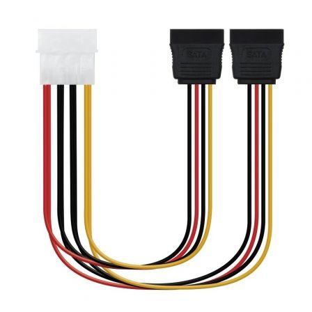 Cable Duplicador de Alimentación Nanocable 10.19.0101/ Molex Macho - 2x SATA Hembra/ 20cm