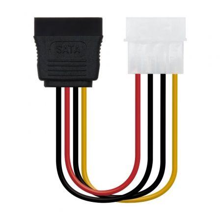 Cable de Alimentación SATA Nanocable 10.19.0205-OEM/ Molex Macho - SATA Hembra/ 16cm