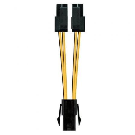 Cable de Alimentación Microprocesador Nanocable 10.19.1401/ Molex -4+4 PIN Macho - Molex 4 PIN Hembra/ 15cm