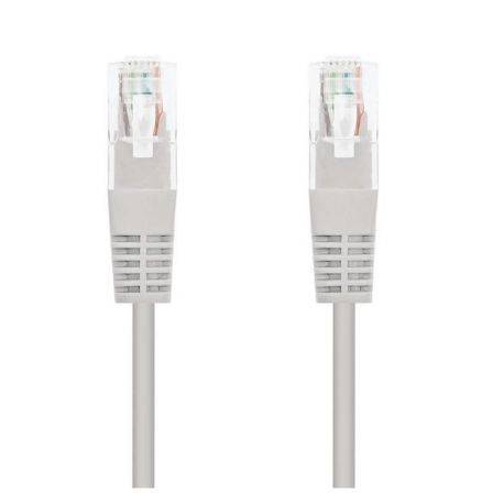 Cable de Red RJ45 UTP Nanocable 10.20.0100-L30 Cat.5e/ 30cm/ Gris