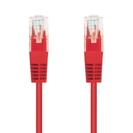 Cable de Red RJ45 UTP Nanocable 10.20.0101-R Cat.5e/ 1m/ Rojo