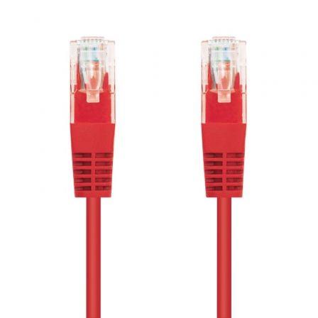 Cable de Red RJ45 UTP Nanocable 10.20.0102-GR Cat.5e/ 2m/ Rojo
