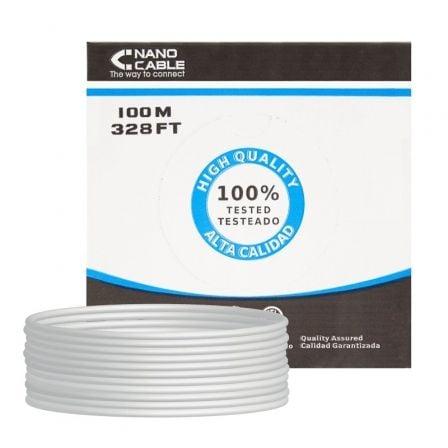 Bobina de Cable RJ45 UTP Nanocable 10.20.0302-FLEX Cat.5e/ 100m/ Gris