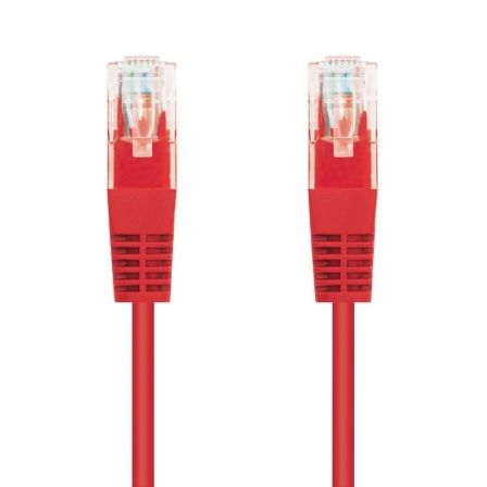Cable de Red RJ45 UTP Nanocable 10.20.0401-R Cat.6/ 1m/ Rojo