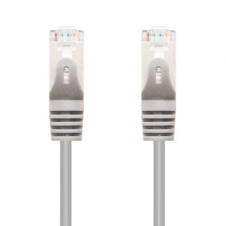 Cable de Red RJ45 SFTP Nanocable 10.20.0820 Cat.6A/ 10m/ Gris