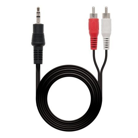 Cable Estéreo Nanocable 10.24.0301/ Jack 3.5 Macho - RCA Macho/ 1.5m/ Negro