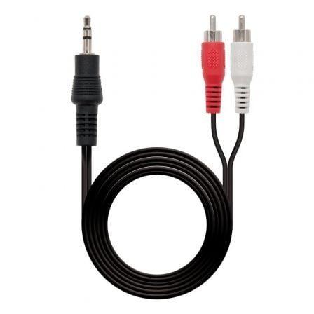 Cable Estéreo nanocable 10.24.0305/ Jack 3.5 Macho - 2x RCA Macho/ 5m/ Negro