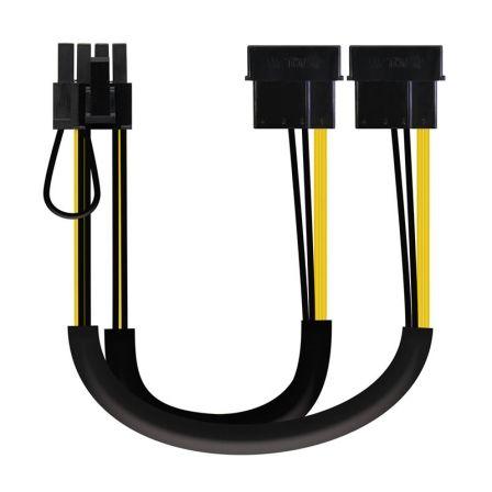 Cable de Alimentación Tarjeta Gráfica Nanocable 10.19.1201/ 2x Molex Macho - 6+2 PIN Macho/ 0.2m