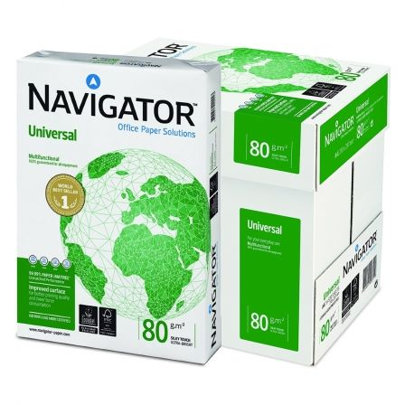Papel Navigator Universal/ DIN A4/ 80g/ 5 x 500 Hojas