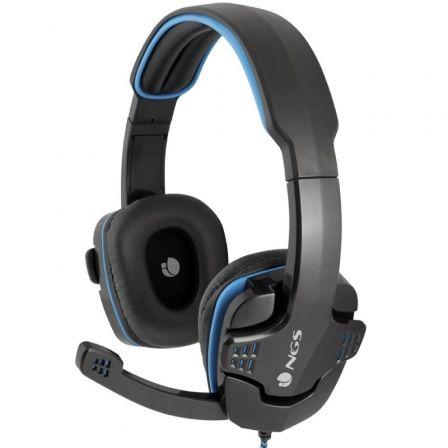 Auriculares Gaming con Micrófono NGS GHX-505/ Jack 3.5/ Azul