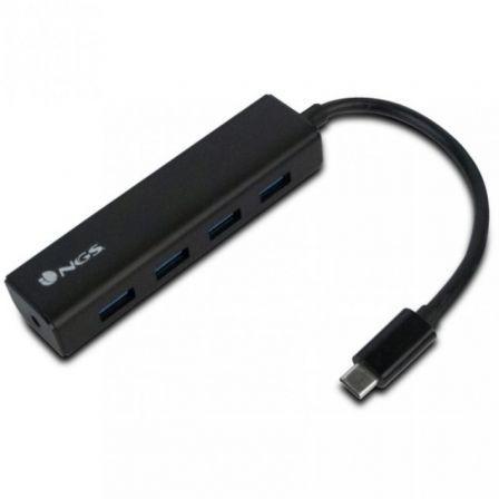 Hub USB 3.0 Tipo-C NGS WonderHub4/ 4 Puertos USB