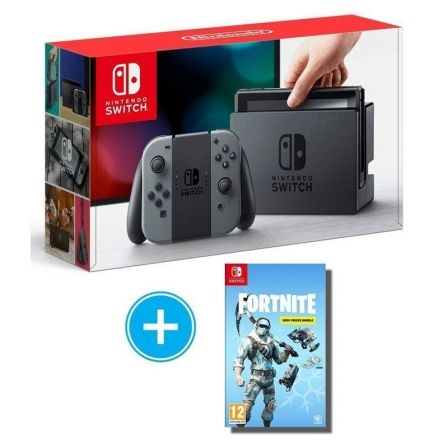 Consola Nintendo Switch Grey Juego Fortnite Lote De Depau