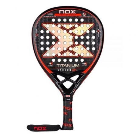 Pala de Pádel NoxSport Titanium Carbon 3K Luxury Series/ Roja