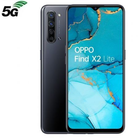 "SMARTPHONE MÓVIL OPPO FIND X2 LITE MOONLIGHT BLACK - 6.4""/16.3CM - SNAPDRAGON 765G - 8GB RAM - 128GB - CAM (48+8+2+2)/32MP - 5G - ANDROID - 4025MAH"