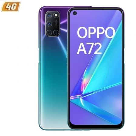 "SMARTPHONE MÓVIL OPPO A72 AURORA PURPLE - 6.5""/16.5CM - SNAPDRAGON 665 - 4GB RAM - 128GB - CAM (48+8+2+2)/16MP - 4G - ANDROID - 5000MAH"