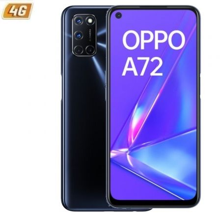"SMARTPHONE MÓVIL OPPO A72 TWILIGHT BLACK - 6.5""/16.5CM - SNAPDRAGON 665 - 4GB RAM - 128GB - CAM (48+8+2+2)/16MP - 4G - ANDROID - 5000MAH"