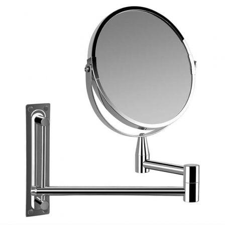 Espejo Cosmético de Pared Orbegozo ESP 4000/ Doble Cara/ Ø17cm