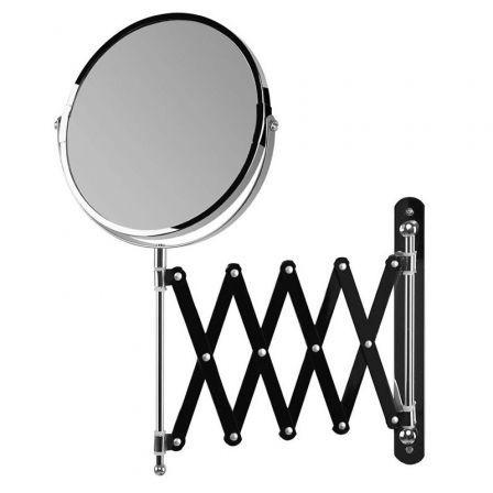 Espejo Cosmético de Pared Orbegozo ESP 6000/ Telescópico/ Doble Cara/ Ø17cm