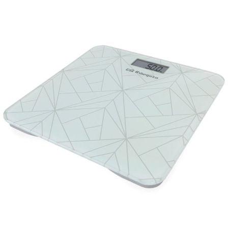 Báscula de Baño Orbegozo PB-2218/ Hasta 180kg/ Blanca