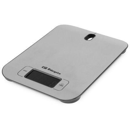 Báscula de Cocina Electrónica Orbegozo PC 1017/ hasta 5kg/ Plata