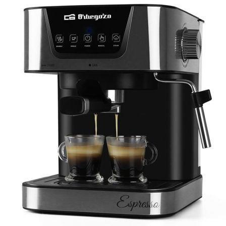 CAFETERA ORBEGOZO ESPRESSO EX 6000 - 1050W - 20 BAR - DEPOSITO DE AGUA 1.5L EXTRAIBLE - PERMITE CAFÉ MOLIDO / MONODOSIS - VAPORIZADOR ORIENTABLE