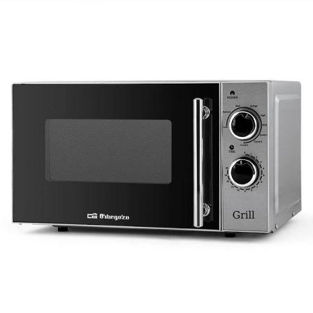 Microondas Orbegozo MIG2550/ 700W/ Capacidad 20L/ Función Grill/ Plata