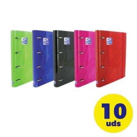 Pack de Archivadores Carpeblock con Recambio Oxford Classic EuropeanBinder 400106676/ A4+/ 100 Hojas/ 10 Unidades/ Colores Surtidos