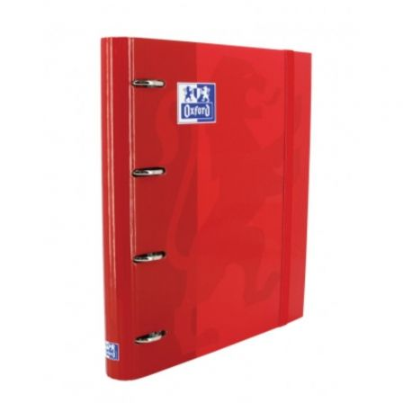 Archivador Carpeblock con Recambio Oxford Classic EuropeanBinder 400109186/ A4+/ 100 Hojas/ Rojo