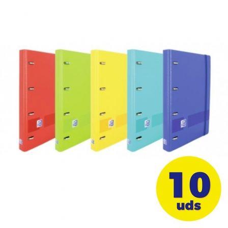 Pack de Archivadores Carpeblock con Recambio Oxford Live & Go EuropeanBinder 400146174/ A4+/ 100 Hojas/ 10 Unidades/ Colores Vivos