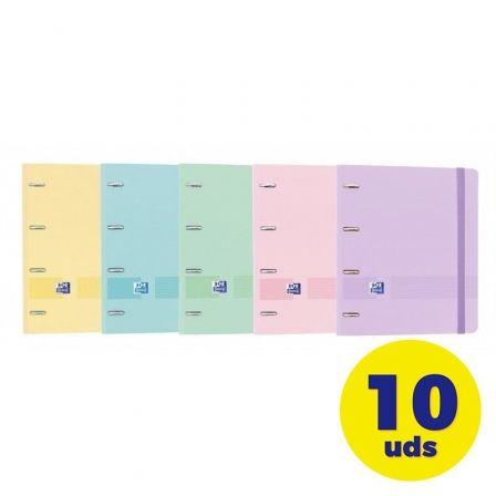 Pack de Archivadores Carpeblock con Recambio Oxford Live & Go EuropeanBinder 400146175/ A4+/ 100 Hojas/ 10 unidades/ Colores Pastel