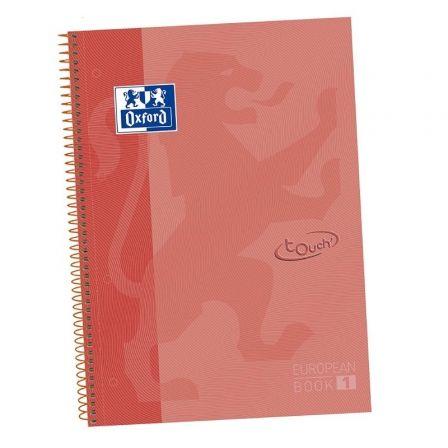 Cuaderno con Espiral Cuadriculado Oxford Touch 400075554/ A4+/ 80 Hojas/ Coral