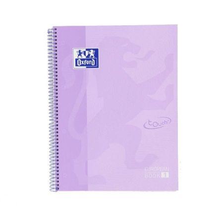 Cuaderno con Espiral Cuadriculado Oxford Europeanbook 1 400117273/ A4+/ 80 Hojas/ Malva Pastel