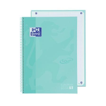 Cuaderno con Espiral Cuadriculado Oxford European Book 1 Touch 400117274/ A4+/ 80 Hojas/ Hielo Menta