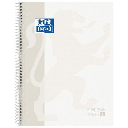 Cuaderno con Espiral Cuadriculado Oxford European Book 1 Classic 400117449/ A4+/ 80 Hojas/ Blanco